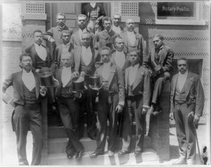 A Portrait of the 1900 graduating class of Howard University Law School